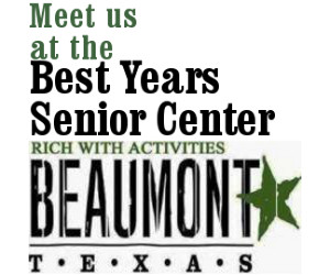 Activities for Beaumont seniors, senior activities SETX, senior exercise Beaumont Tx, seniro fitness Beaumont TX