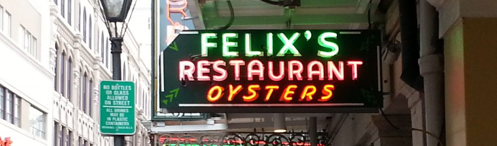 oysters New Orleans, Felix's New Orleans, Senior Tourism New Orleans, Senior travel New Orleans,