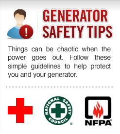 port arthur senior safety generator tips from Entergy Texas