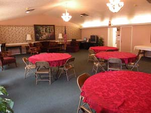 Optimist Village Orange TX senior apartment event room
