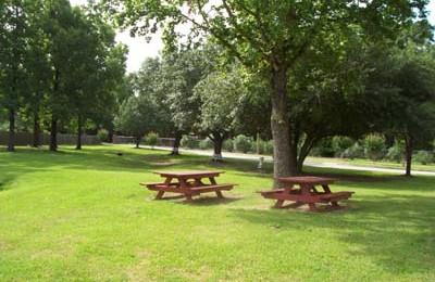 Optimist Village Orange TX senior apartment picnic area