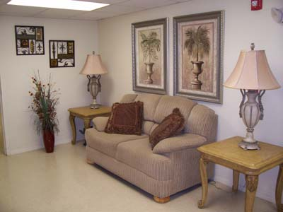 Optimist Village Orange Tx senior housing couch