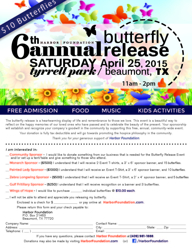 Harbor Butterfly Release 2015