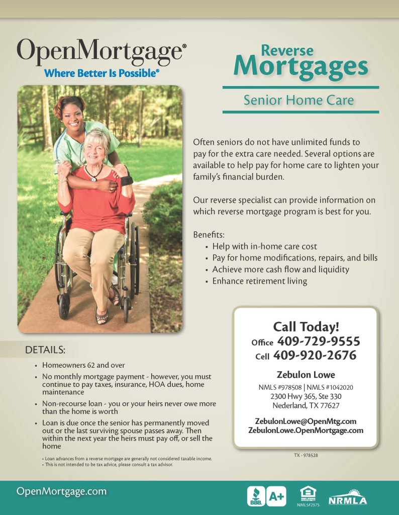 Open Mortgage Reverse Mortgages Beaumont Tx, Zebulon Lowe, reverse mortgage Beaumont TX, retirement planning Beaumont TX, retirement planning SETX, retirement planning Port Arthur, retirement planning Orange TX