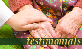 hospice testimonials Port Arthur