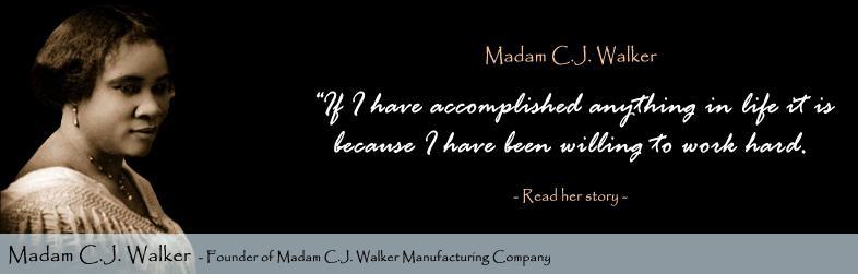 Madam CJ Walker Black Entrepreneurs