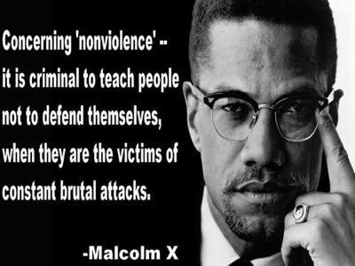 Malcolm X Nonviolence