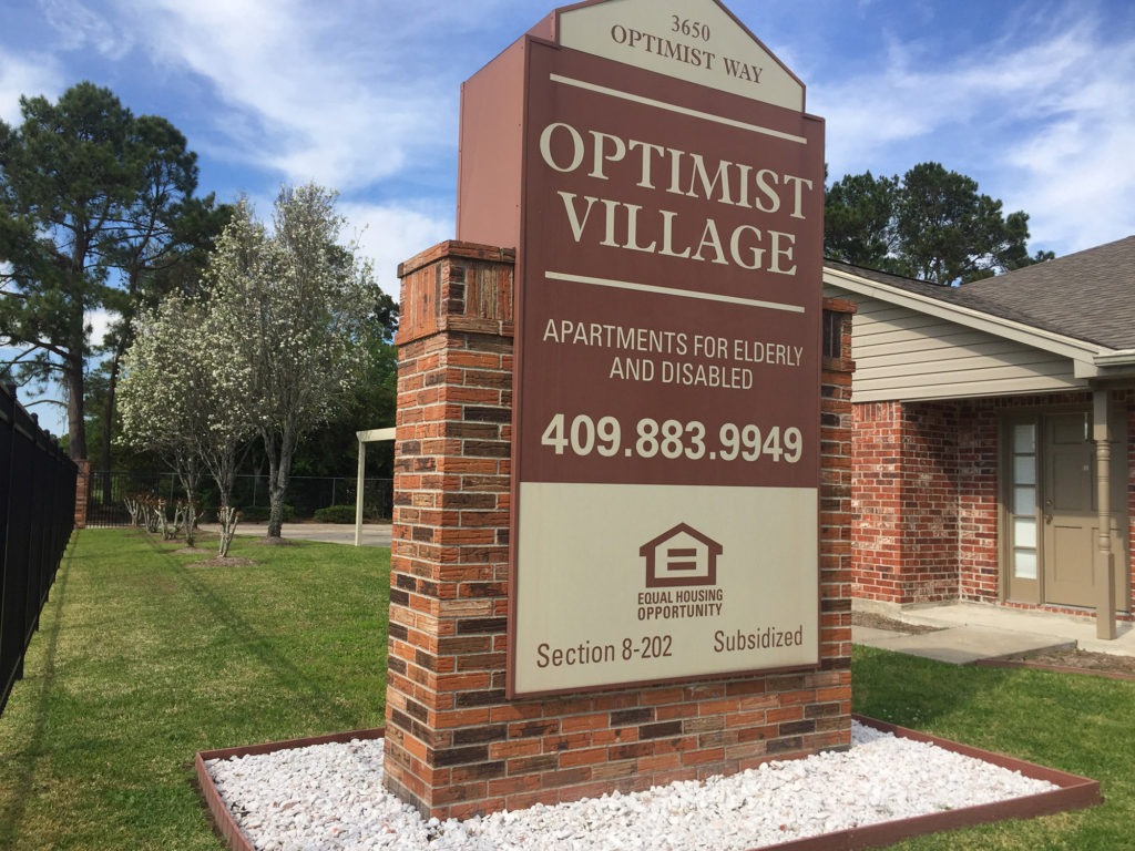 Optimist Village Orange TX, senior housing Orange County TX, senior apartments Bridge City TX, senior living Vidor TX