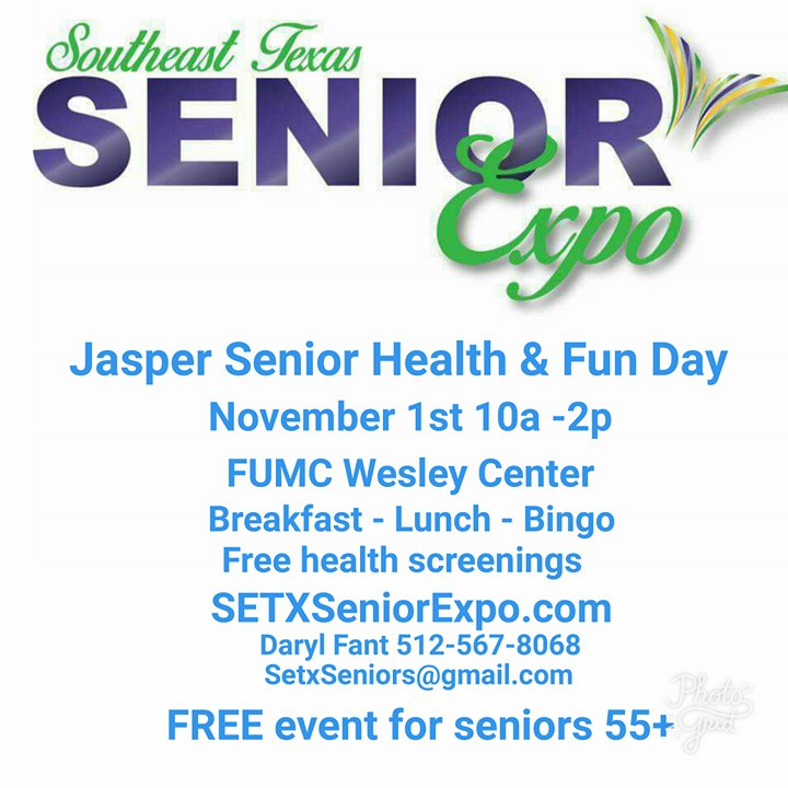 Health Fair Jasper, Health Fair Newton, Senior Events Jasper, Senior Events Lufkin, Senior Expo Lufkin, Senior Events Sam Rayburn