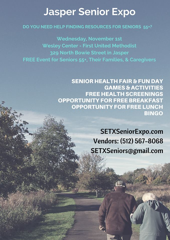 senior expo Jasper TX, senior events Jasper TX, health fair Jasper TX, health fair Newton TX