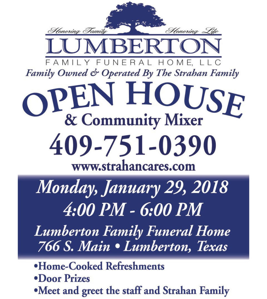 Lumberton Family funeral home open house, senior events Hardin County, senior activities Lumberton TX, Senior Calendar Southeast Texas, SETX senior calendar,