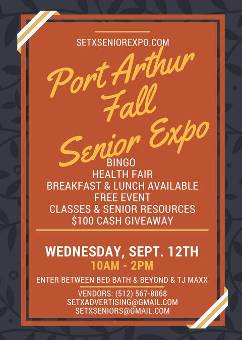 Port Arthur Senior Expo, Mid County Senior Activities, Central Mall Health Fair, Central Mall senior day, Bingo Port Arthur, SETX Bingo,