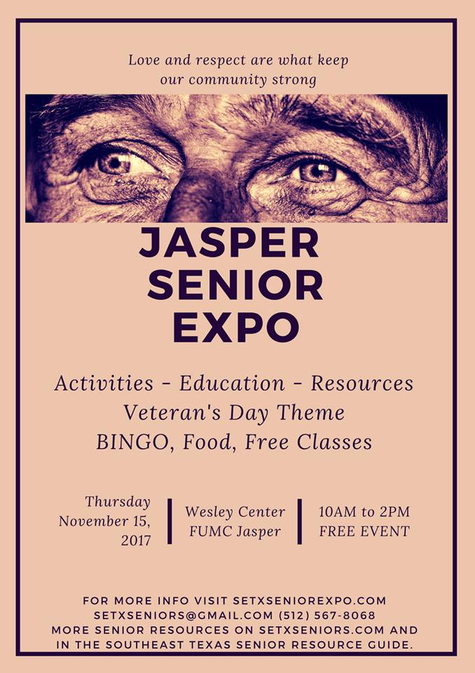 Jasper Senior Expo, Jasper Senior Health Fair, senior events Jasper TX, senior activities Jasper TX, senior resources Jasper County TX