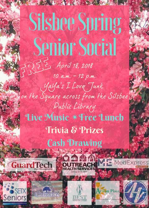 Senior Events Silsbee, Senior Activities Silsbee TX, Senior Fun Day Silsbee, Senior Social Silsbee,